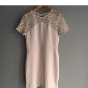 New Banana Republic Ivory Lace Dress sheath Sz 2